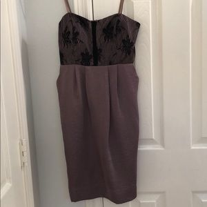 New BCBG Generation brown strapless dress